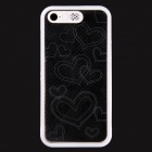 Love Heart Pattern LED Flash Light Protective ABS Hard Case for IPHONE 5 / 5S - White