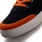 Shang-Jin Men's Breathable Canvas Shoes - Black + Orange + White (EUR Size 42)
