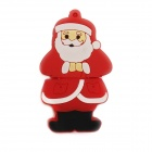 KD-298 Cartoon Santa Claus formad USB 2.0 Flash Drive - röd + vit (4GB)