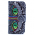Owl Eyes Pattern PU Leather Full Body Case with Stand / Card Slot / Money Holder for IPHONE 4 / 4S
