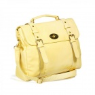 Catwalk88 Women's PU Leather Single Shoulder Messenger Bag - Yellow