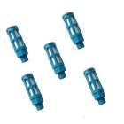 "ZnDiy-BRY S-2 1/4"" Filter Pneumatic Slotted Plastic Mufflers / Silencers - Light Blue (5 PCS)"