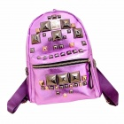 PL-21 Stylish Rivet Backpack - Purple