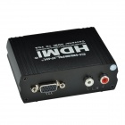 CHEERLINK 1080p HDMI to VGA Converter w/ 3.5mm / DC Port + EU Plug Adapter - Black