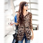 Sexy Stylish Leopard Print Shirt for Women (Free size)