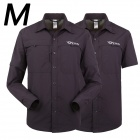 ESDY-630 Men's Quick-Drying Detachable Sleeves Outdoor Shirt - Navy Blue (M)