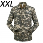ESDY-631 Men's Quick-Drying Detachable Sleeves Outdoor Shirt - ACU Camouflage (XXL)