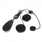 V5-1200 1200M 5-Rider Handsfree Bluetooth Intercom Set for Motorcycle - Black