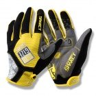 Spakct SGTOP3 Breathable Anti-sliding Full Finger Gloves for Cycling - Yellow + Black (Size XL)