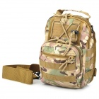 D5 Outdoor Multifunctional Nylon Backpack / Chest Bag / Messenger Bag - Desert Camouflage (7L)