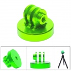 "High Precision CNC Aluminum Alloy 1/4"" Tripod Adapter Mount for Gopro Hero 4/ 3+ / 3 / 2 -Green"