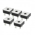 ZnDiy-BRY BR5010 1KV 50A Single Phase Bridge Rectifier - Black ( 5 PCS)