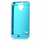 LHJ-96 Ultra-thin Protective Aluminum Alloy Back + Front Case for Samsung Galaxy S5 - Dark Blue