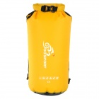 OQsport 140765 Outdoor Sports Rafting Waterproof Sealed Double Shoulder Dry Bag Backpack - Yellow