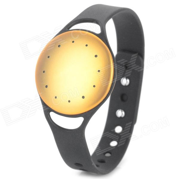 Bluetooth v4.0 pedômetro inteligente pulseira w / Motion Record / Sleep Monitor - dourado + preto