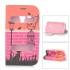 Flip-open PU Leather + TPU Case w/ Stand for Samsung Galaxy Trend Duos S7562 / S7560 - Rose Red