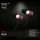 AEAR D00267 Zinc Alloy + Wood Pro Stereo In-Ear Earphones w/ Mic. / Remote - Black + Silver
