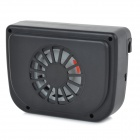 WIN-01110A Solar Powered Car Vehicle Air Vent Cooling Fan - Black
