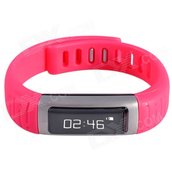 AOLUGUYA CM01 Touch Screen Bluetooth Bracelet Smart Watch for IPHONE + More - Black + Red
