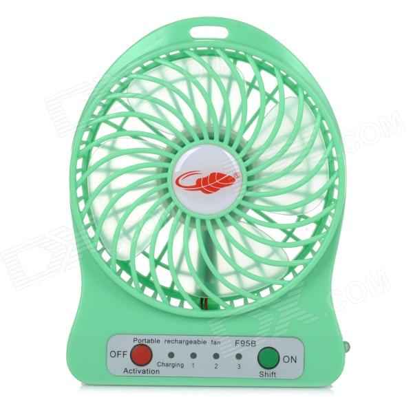 Portable USB 2.0 Powered 4-Blade 3-Mode Mini Desktop Fan w/ LED - Green (1 x 18650) кулер cougar cfd120 led fan green