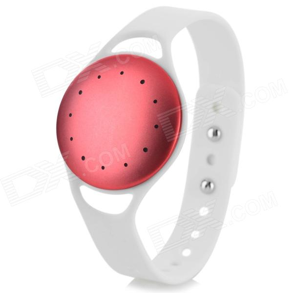 IM-1 Bluetooth V4.0 Intelligent Pedometer Wrist Band w/ Motion Record / Sleep Monitor - White + Red - DXGadgets<br>With motion record / sleep monitor / calorie consumption monitor function IPX6 waterproof.<br>