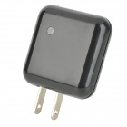 Rotatable USB AC Power Charger Adapter - Black (US Plug / 110~240V)