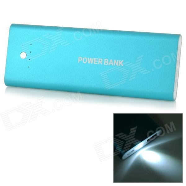 5000mAh LED External Battery Charger Power Bank for IPHONE / IPAD / MP3 / MP4 - Blue