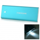 """5000mAh"" LED External Battery Charger Power Bank for IPHONE / IPAD / MP3 / MP4 - Blue"