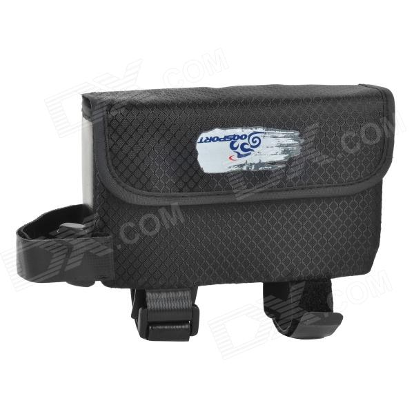 OQsport F-16 Bike Bicycle Frame Top Tube Nylon Bag - Black