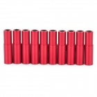 WC-07 5.1mm Aluminum Alloy + Plastic Cable Housing End Caps Ferrules for Bike Bicycle - Red (10pcs)