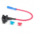 SZGAOY 14072301 DIY Blade Fuse Holder Socket w/ 10A & 15A Blade Power Fuses - Multi-colored