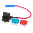 SZGAOY 14072303 DIY Blade Fuse Holder Socket w/ 10A & 15A Blade Power Fuses - Multi-colored