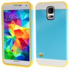 Link Dream Protective Hybrid Rugged TPU + PC Back Case Cover for Samsung Galaxy S5 - Blue + Yellow
