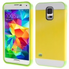 Link Dream Protective Hybrid Rugged TPU + PC Back Case Cover for Samsung Galaxy S5 - Yellow + Green
