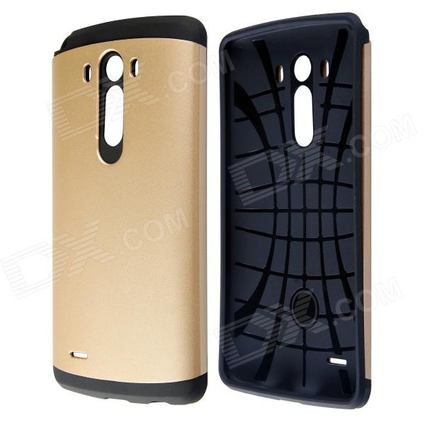 PC and Silicone Hybrid Slim Armor Case with Anti-shock Grid Design for LG G3 - Golden application of legendre wavelets and hybrid functions for ie
