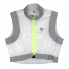 MONTON Outdoor Cycling Riding Reflective Windproof Vest Top - White + Grey (L)