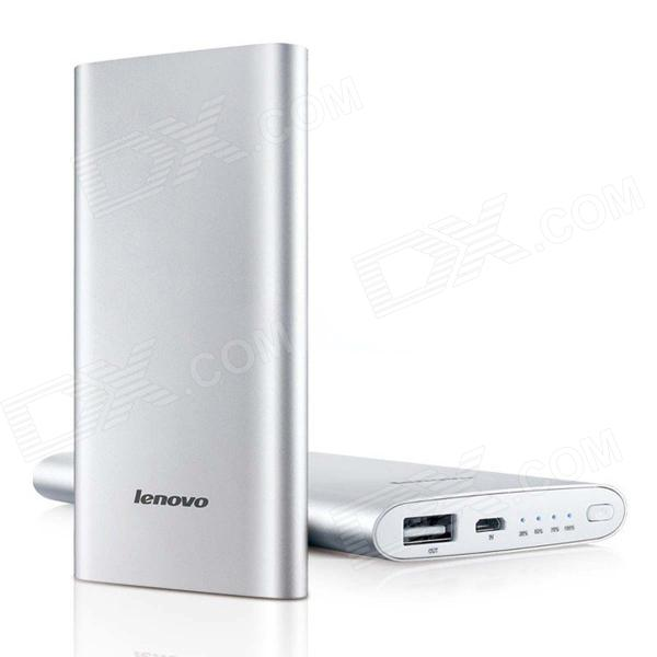 Lenovo MP506 5000mAh USB Mobile Power Source Bank w/ 4-LED Indicator - Silver батарейный мод eleaf ipower 5000 mah 80 w стальной