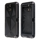 Redpepper Case Aluminum Alloy + Silicone Shockproof Case for HTC One M8 - Black
