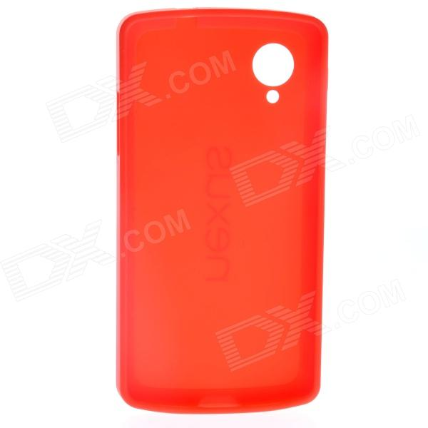 Protective TPU + PC Back Case Cover for LG Google Nexus 5 - Red protective silicone back case for lg nexus 5 red