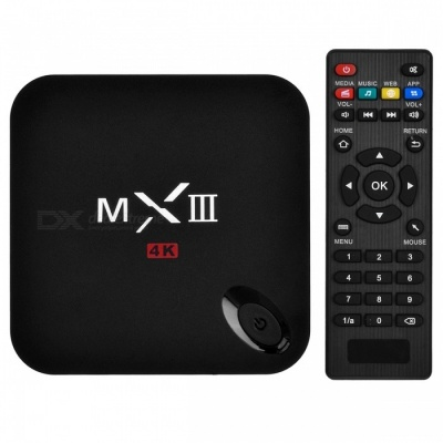 MXIII Android Google TV Player w/ 2GB RAM, 8GB ROM, Wi-Fi - Black