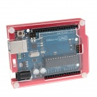 YuanBoTong Protective 6-Layer Acrylic Case Enclosure Box for Arduino UNO R3 - Red