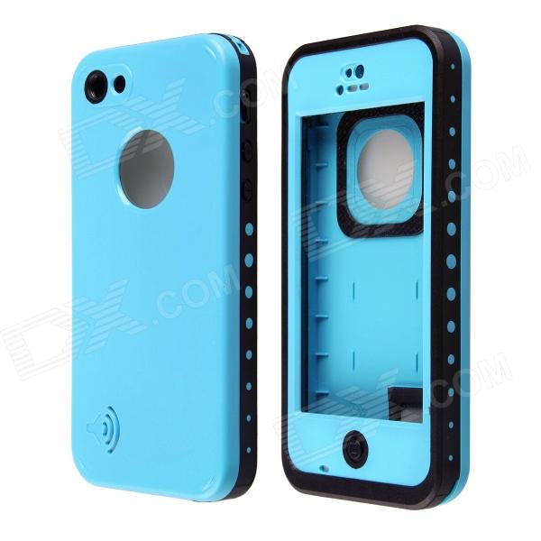 все цены на Redpepper Ultra-Thin Waterproof Back Case w/ Speaker Protective Design for IPHONE 5C - Blue + Black онлайн