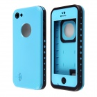 Redpepper Ultra-Thin Waterproof Back Case w/ Speaker Protective Design for IPHONE 5C - Blue + Black