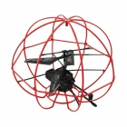 BN837 3.5-channel Built-in Gyro R/C Aircraft - Black + Red