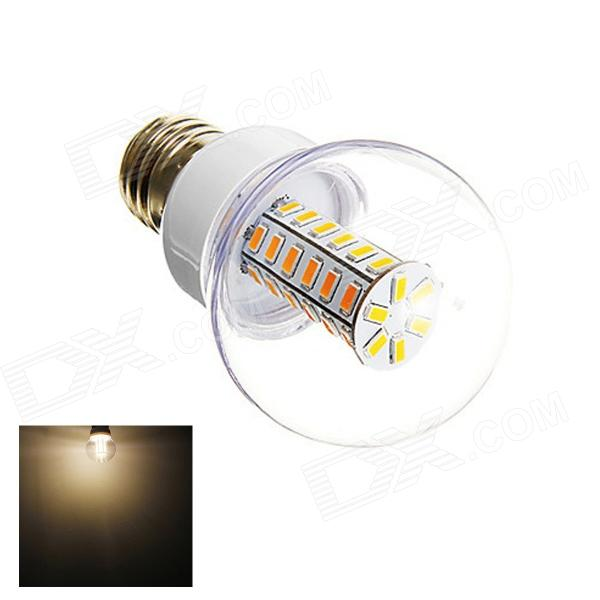 E27 6W 280lm 3000K 42-SMD 5730 LED Warm White Light Lamp Bulb - White (AC 220~240V) marsing e14 frosted cover 10w 1000lm 3500k 56 x smd 5730 led warm white light bulb lamp ac 220v