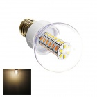 E27 6W 280lm 3000K 42-SMD 5730 LED Warm White Light Lamp Bulb - White (AC 220~240V)