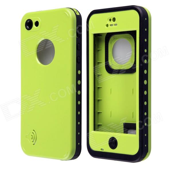 все цены на Redpepper Ultra-Thin Waterproof Back Case w/ Speaker Protective Design for IPHONE 5C - Green онлайн
