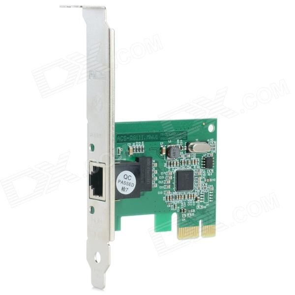 Family Private Networks Desktop RJ-45 PCI-E Network Adapter Card - Green + Black + Multi-Color xeltek private seat tqfp64 ta050 b006 burning test