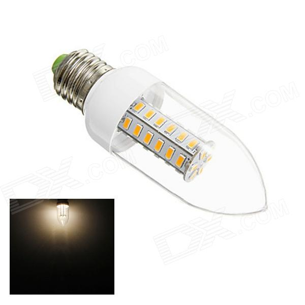 Gotrade S33 E27 6W 260lm 3000K 42-SMD 5730 LED Warm White Light Bulb - White + Silver (AC 220~240V) 5pcs e27 led bulb 2w 4w 6w vintage cold white warm white edison lamp g45 led filament decorative bulb ac 220v 240v