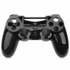 Plastic Protective Front + Back Case Cover for Wireless PS4 Controller - Black
